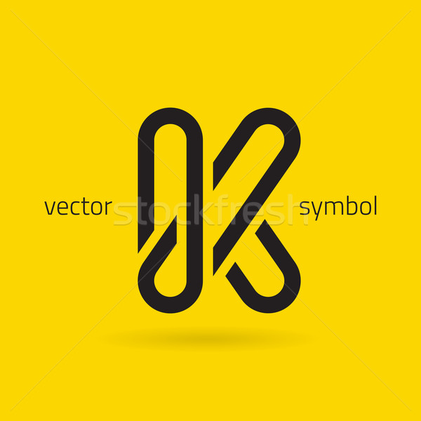 Vector graphic creative line alphabet symbol / Letter K Stock photo © feabornset