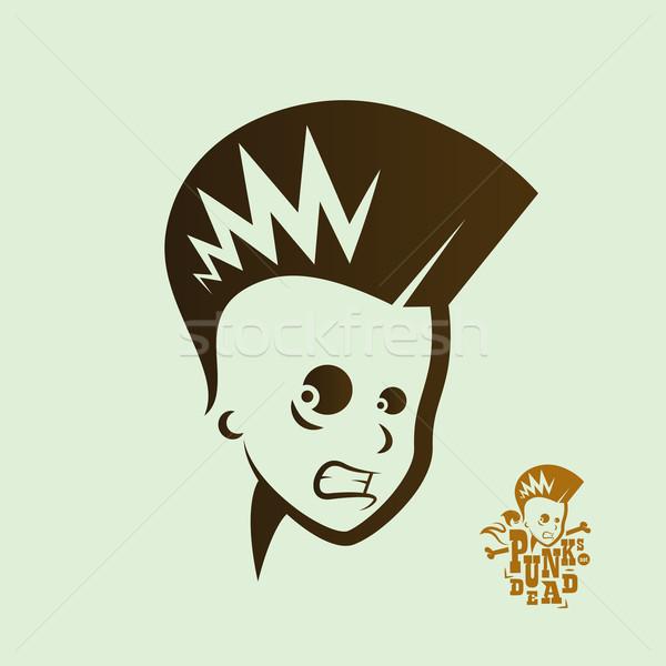 Vector silueta masculina punk rock cantante Foto stock © feabornset