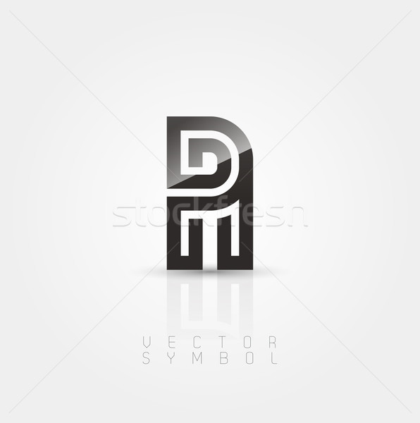 Vector graphic elegant and creative line alphabet / Letter A Stock photo © feabornset