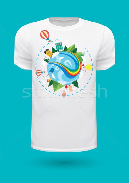 Vector graphic t-shirt design / Print design Stock photo © feabornset