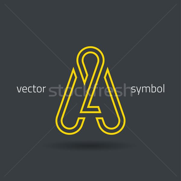 Vector graphic creative line alphabet symbol A Stock photo © feabornset