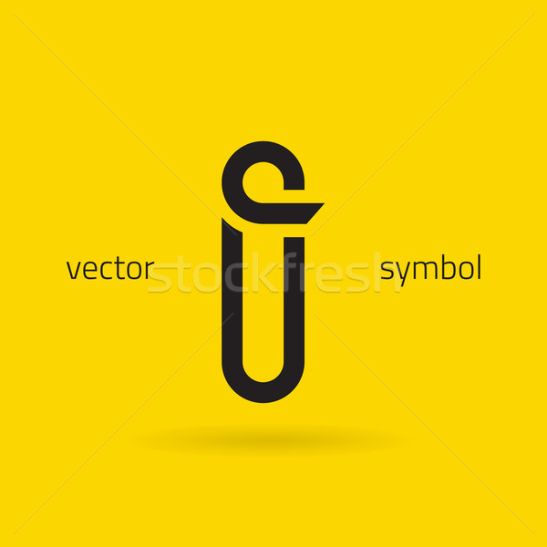 Vector graphic creative line alphabet symbol / Letter I Stock photo © feabornset