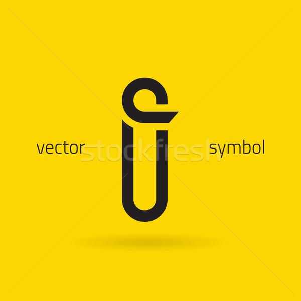 Vector graphic creative line alphabet symbol / Letter I Stock photo © feabornset