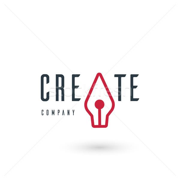 Wektora graficzne ilustracja wieczne pióro symbol próba Zdjęcia stock © feabornset