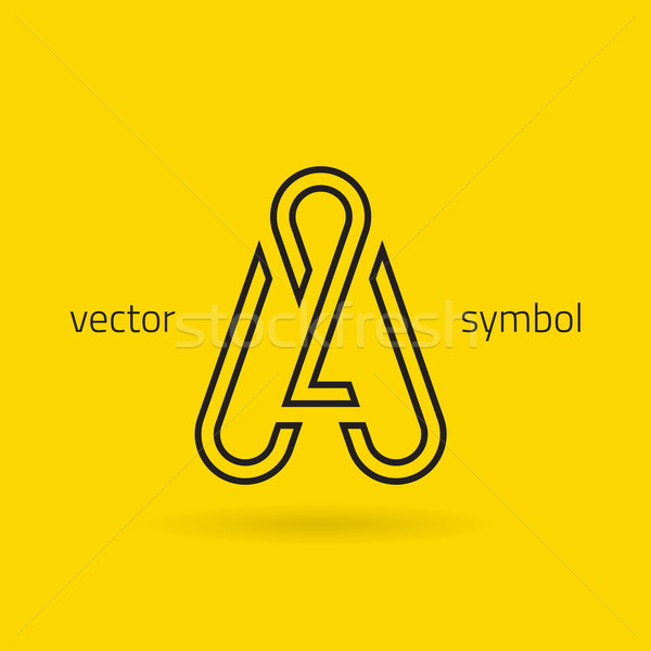 Vector graphic creative line alphabet symbol / Letter A Stock photo © feabornset