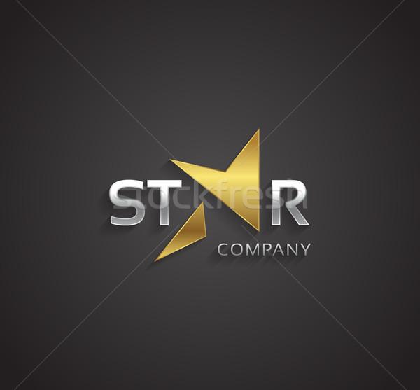 Vetor gráfico dourado prata elegante estrela Foto stock © feabornset