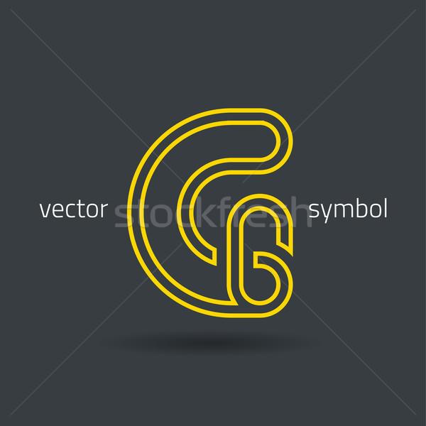 Vector graphic creative line alphabet symbol G Stock photo © feabornset