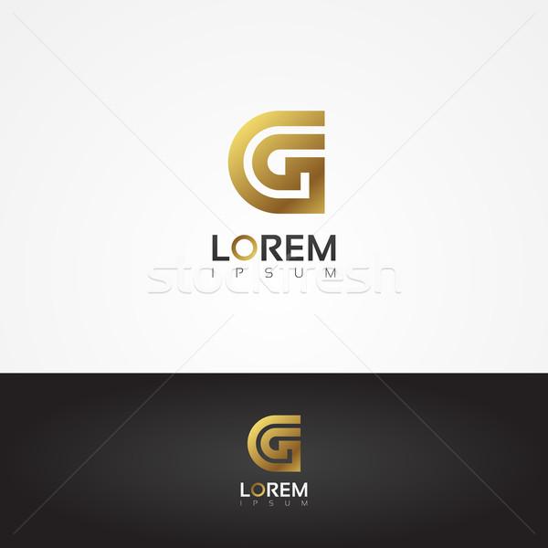 Elegante vetor gráfico ouro alfabeto símbolo Foto stock © feabornset