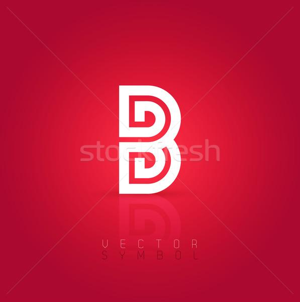 Vector graphic creative line alphabet symbol / Letter B Stock photo © feabornset