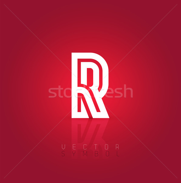 Vector graphic creative line alphabet symbol / Letter R Stock photo © feabornset