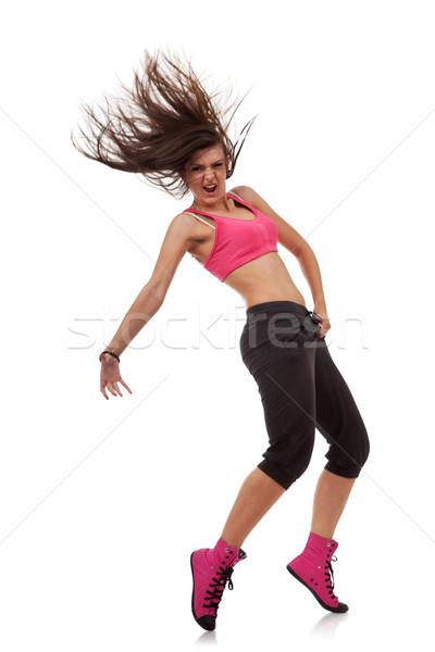 Donna moderno ballerino dita dei piedi Foto d'archivio © feedough