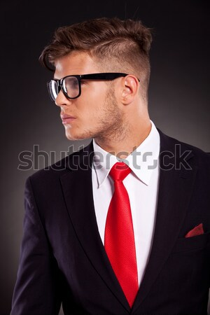 handsome young businessman looking at camera Stock photo © feedough