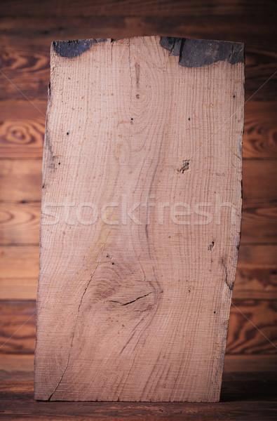 Duży dąb deska stałego jodła liściastego Zdjęcia stock © feedough