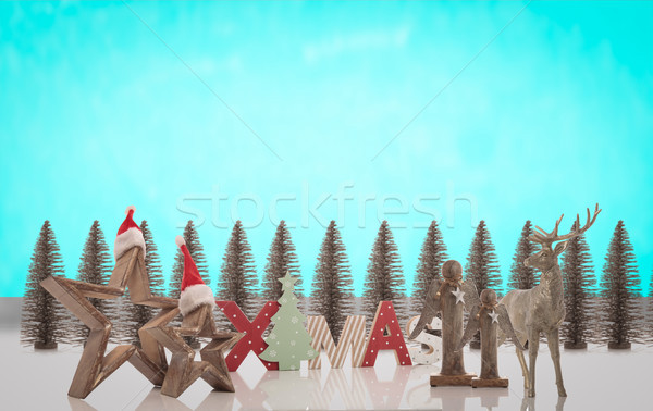 image montage of christmas decoration Stock photo © feedough