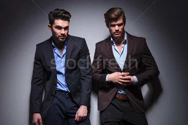 two hot men, one looking away Stock photo © feedough