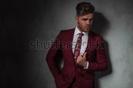 ファッション 男 立って 手 ポケット ルックス ストックフォト © feedough