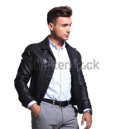 man holding both hands in pockets Stock photo © feedough