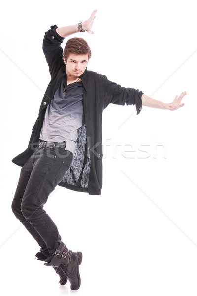 skilled male dancer in a pose Stock photo © feedough