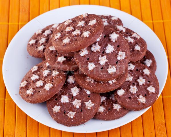fresh brown  cookies Stock photo © feedough
