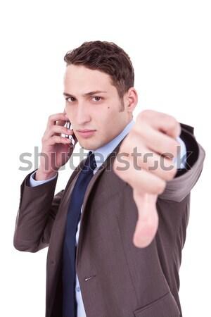 悪い知らせ 電話 ビジネスマン 携帯電話 負 ストックフォト © feedough