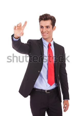 business man selecting something Stock photo © feedough
