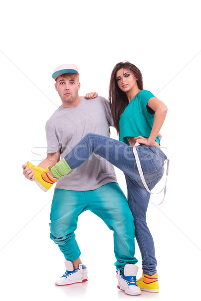 dance couple fooling around Stock photo © feedough