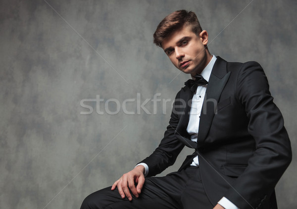 seated confident businessman dressed elegantly relaxing Stock photo © feedough