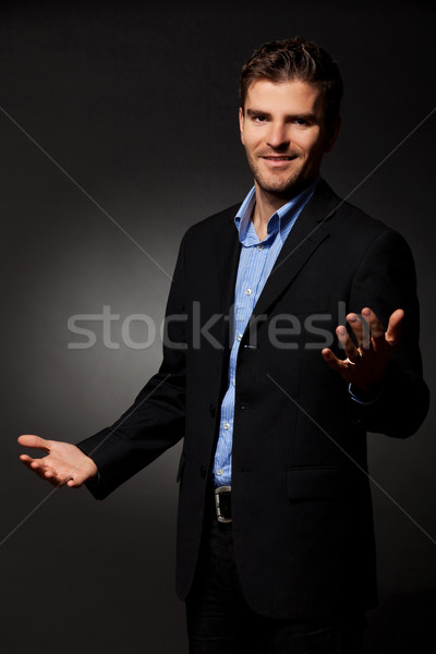 Approachable young business man Stock photo © feedough