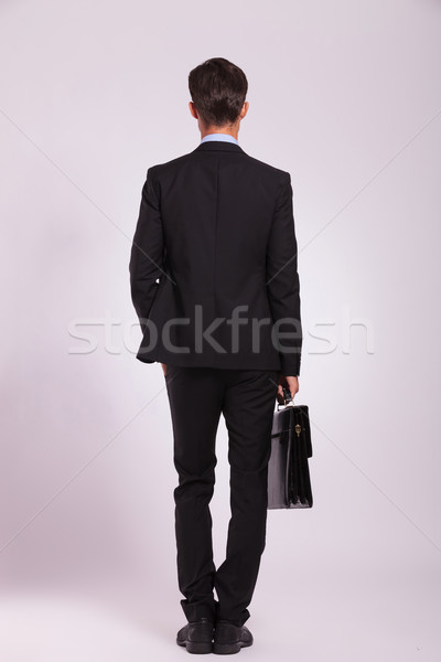 business man & brief, back view Stock photo © feedough