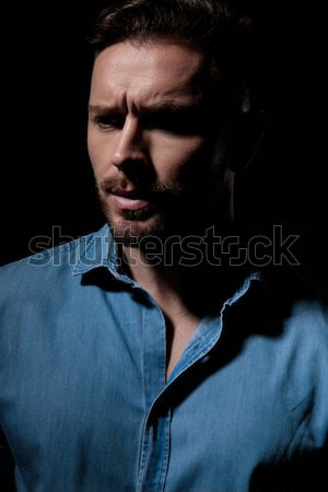 arrogant fashion man making a  hand gesture Stock photo © feedough