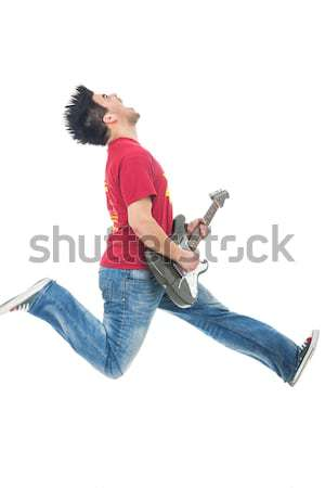 excited rock star poiting to the camera Stock photo © feedough