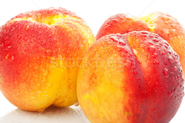 yummy looking wet peaches Stock photo © feedough