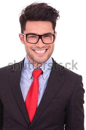 business man with big smile Stock photo © feedough