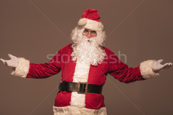 Portrait of Santa Claus welcoming you Stock photo © feedough