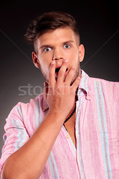 shocked casual man Stock photo © feedough