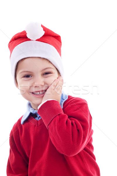 Young festive boy Stock photo © feedough
