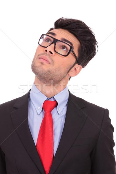 business man looks up Stock photo © feedough