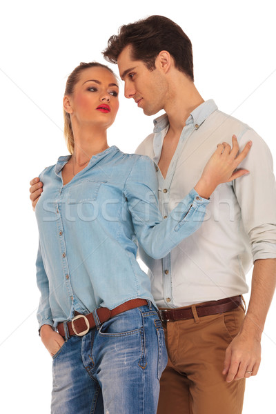 couple posing looking away from the camera Stock photo © feedough