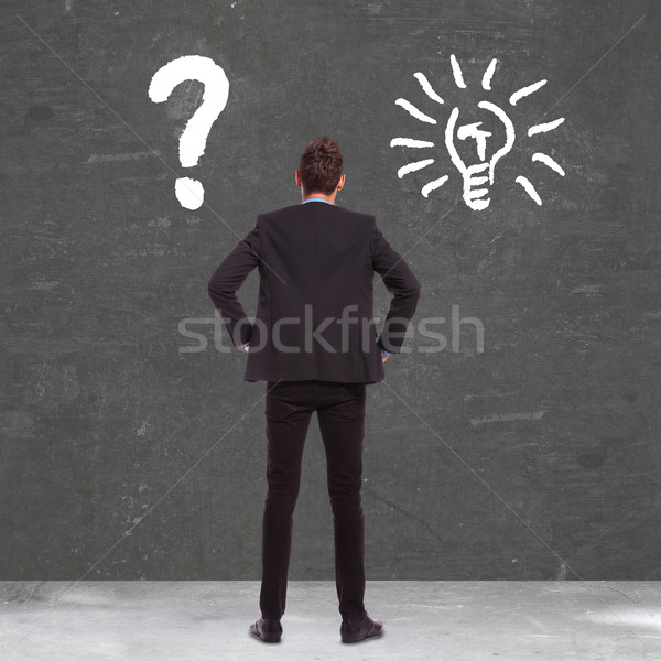 business man between confusion and a great idea Stock photo © feedough