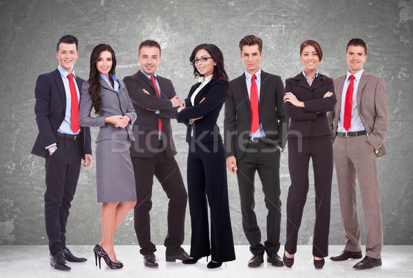 Exitoso feliz equipo de negocios hombres de negocios mujeres aislado Foto stock © feedough