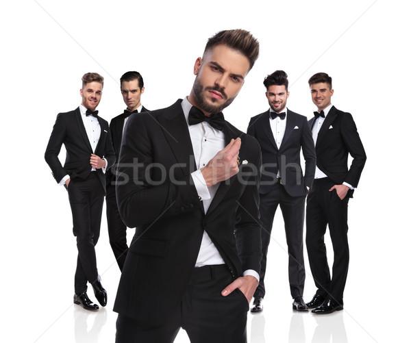 öt elegáns áll arrogáns vezető elöl Stock fotó © feedough