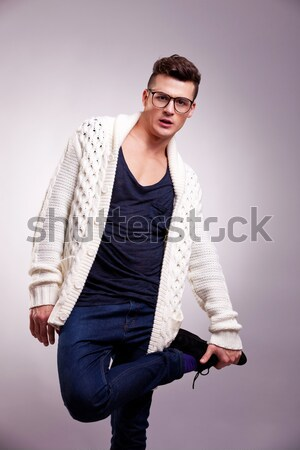 cool guy with hands in his pockets Stock photo © feedough