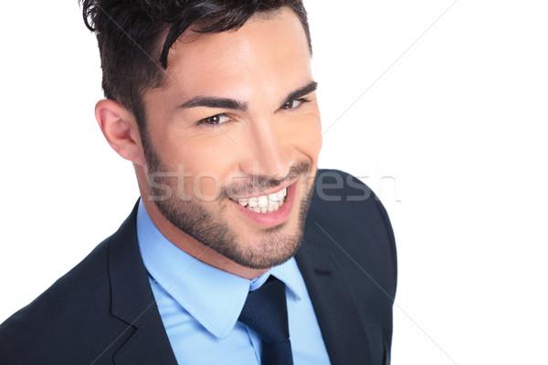 Foto giovani sorridere uomo d'affari bianco Foto d'archivio © feedough