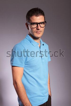 Stok fotoğraf: Yakışıklı · genç · iş · adamı · gözlük
