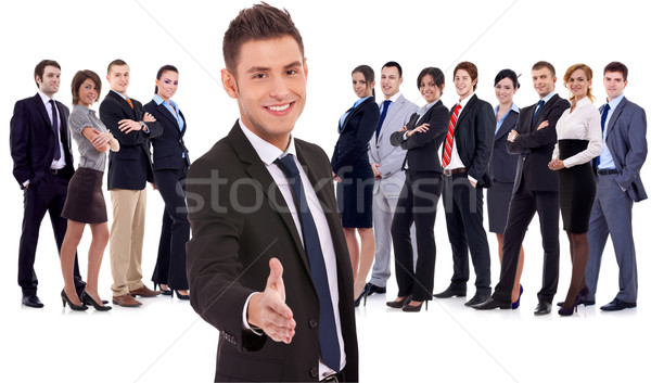 Stock photo: welcome to the team