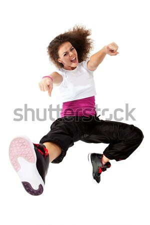 passionate woman dancer jumping  Stock photo © feedough