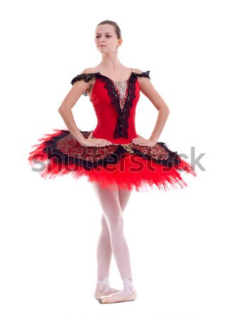 youn latino dancer with nice legs Stock photo © feedough