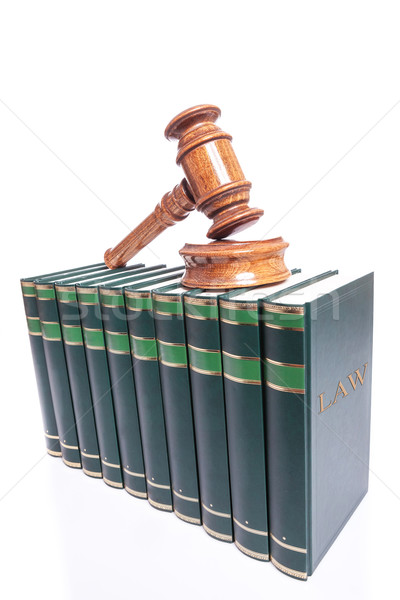 Judges gavel on law books Stock photo © feedough
