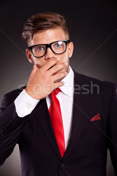 shocked business man Stock photo © feedough