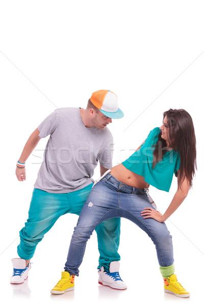 Сток-фото: хип-хоп · танцы · пару · пару · танцоры